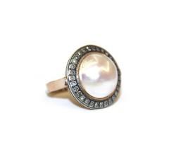 "Кольцо бриллиантами и жемчугом ""Мабе"""